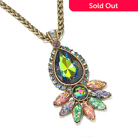 134-183 - Sweet Romance 25'' Multi Color Crystal & Glass Drop Necklace w/ 4'' Extender