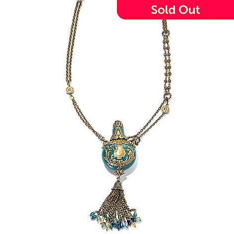 134-185 - Sweet Romance 28'' Perfume Vinaigrette Tassel Necklace