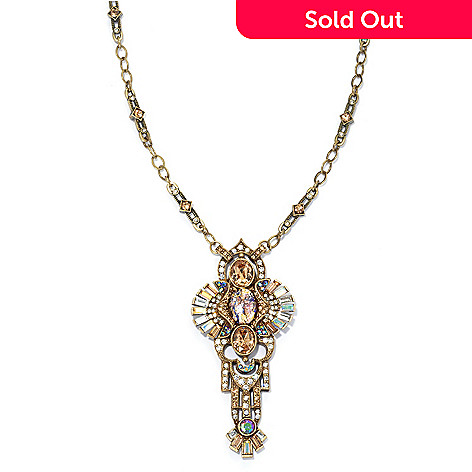134-193 - Sweet Romance™ 32'' Multi Color Crystal & Glass Deco Fanfare Mirror Necklace