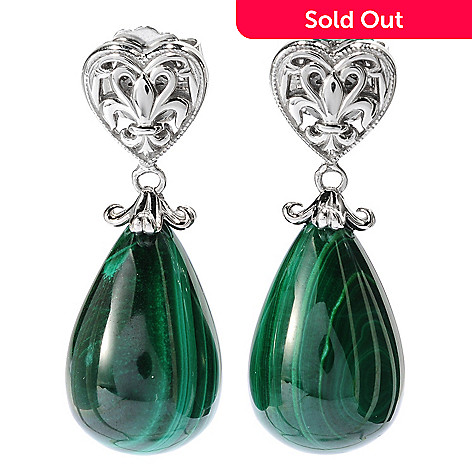 134-217 - Dallas Prince Sterling Silver 1.5'' 21 x 14mm Gemstone Drop Earrings