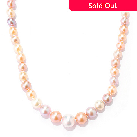 134-258 - Sterling Silver 18'' 4-9mm Multi Color Freshwater Cultured Pearl Graduated Necklace