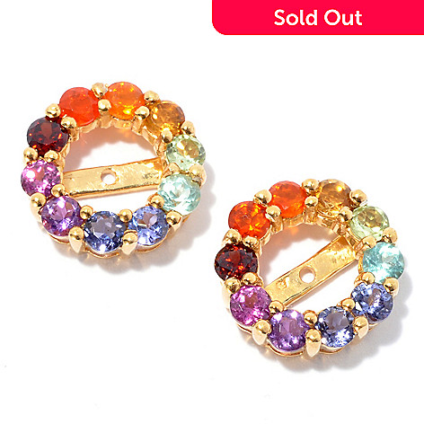 134-265 - NYC II™ 1.18ctw Exotic Rainbow Multi Gemstone Earring Jackets