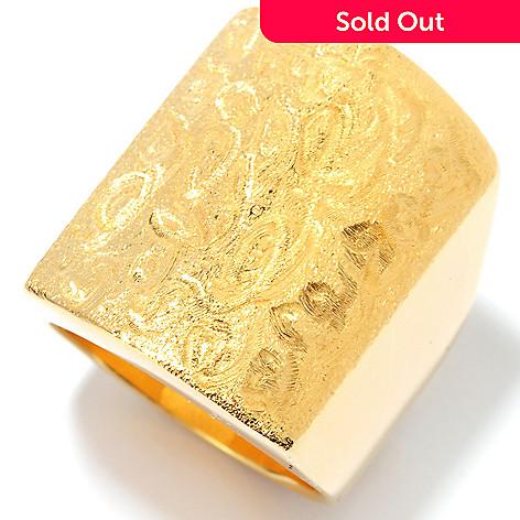 134-344 - Portofino Gold Embraced™ Polished & Brushed Swirl Elongated Ring