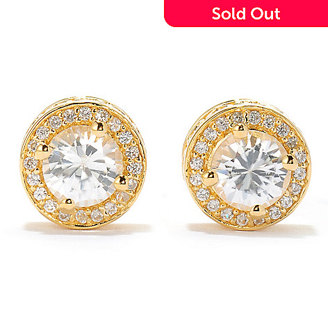 134-479 - NYC II 2.41ctw Round White Zircon Halo Stud Earrings