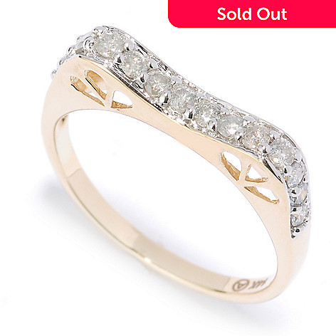 134-491 - Beverly Hills Elegance 14K Gold 0.40ctw Diamond Cut-out Band Ring