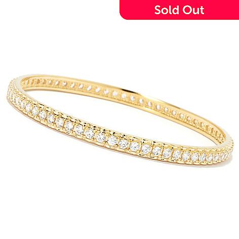134-509 - Brilliante® Round Cut Simulated Diamond Slip-on Bangle Bracelet
