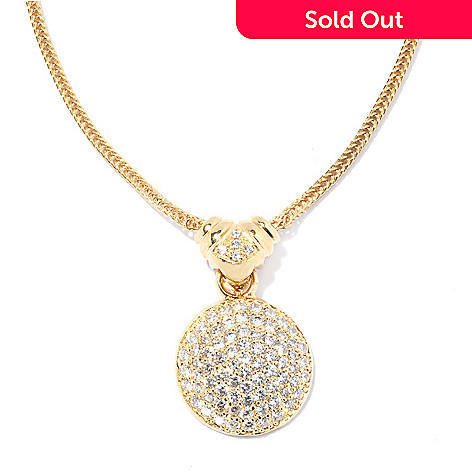 134-511 - Brilliante® Gold Embraced™ 1.51 DEW Simulated Diamond Pendant w/ 18'' Chain
