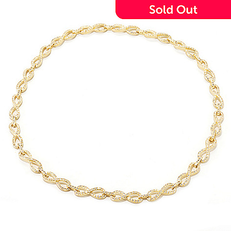 134-512 - Brilliante® Simulated Diamond Figure-Eight Link Necklace