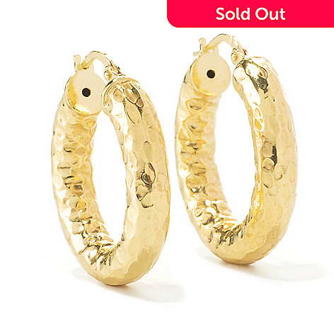 134-545 - Toscana Italiana 1'' Hammered Hoop Earrings