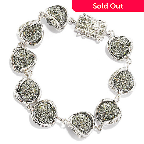 135-099 - Adaire™ 7.5'' Sterling Silver Beadwork Bracelet Made w/ Swarovski® Elements