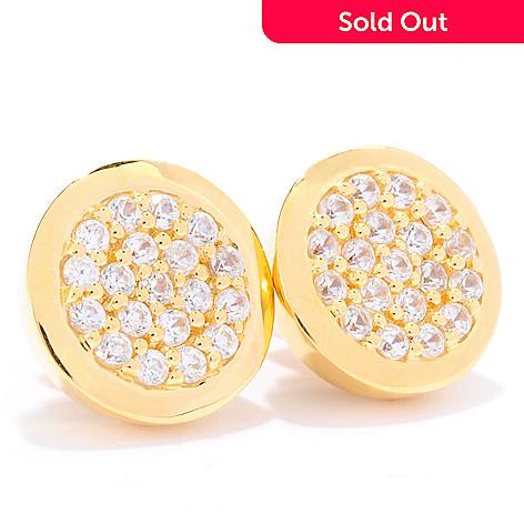 135-199 - Dallas Prince 1.90ctw White Zircon Button Earrings