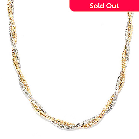 135-342 - Viale18K® Italian Gold 19.5'' Two-tone Twisted Stretch Necklace, 8.8 grams