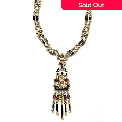 135-350 - Sweet Romance™ 24.5'' Multi Color Crystal & Enamel Art Deco Inspired Necklace