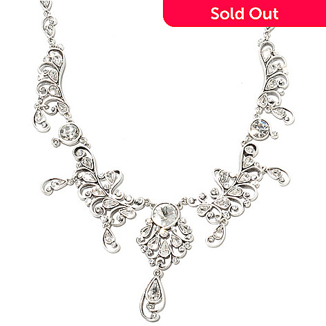 135-356 - Sweet Romance™ 16.75'' Crystal Jazz Age Inspired Collar Necklace