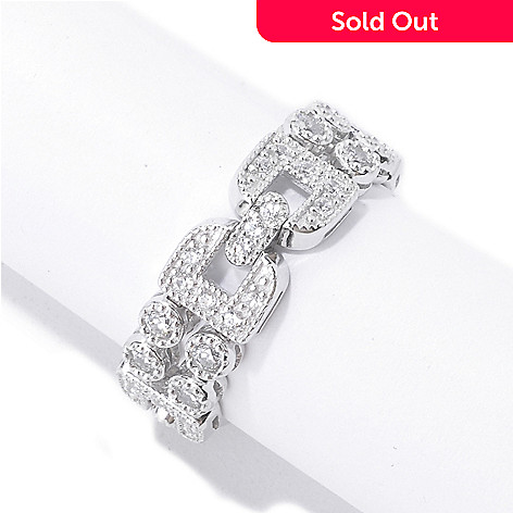 135-366 - Sonia Bitton Round Cut Simulated Diamond Art Deco-Inspired Dream Fit® Ring