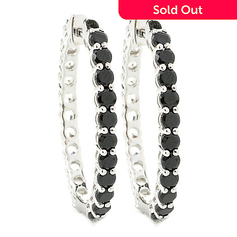 135-374 - NYC II 1.25'' 6.50ctw Spinel & White Zircon Double-Sided Hoop Earrings