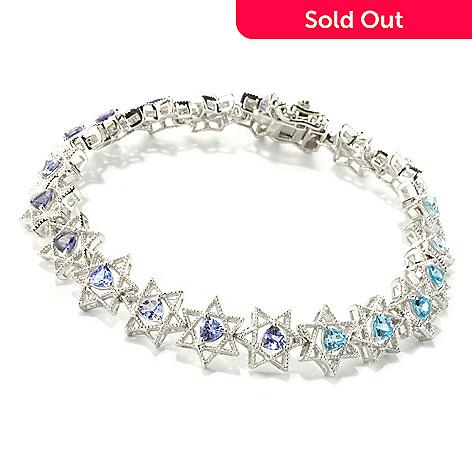 135-405 - NYC II® Trillion Multi Gemstone Star of David Tennis Bracelet