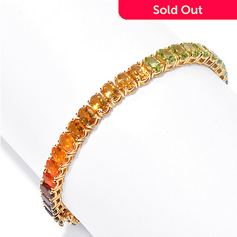 135-516 - NYC II® 14.70ctw Multi Gemstone Exotic Rainbow Tennis Bracelet