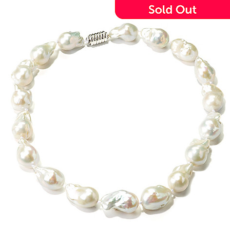 135-579 - Sterling Silver 14-16mm Freshwater Cultured Pearl 18'' Necklace w/ Magnetic Clasp