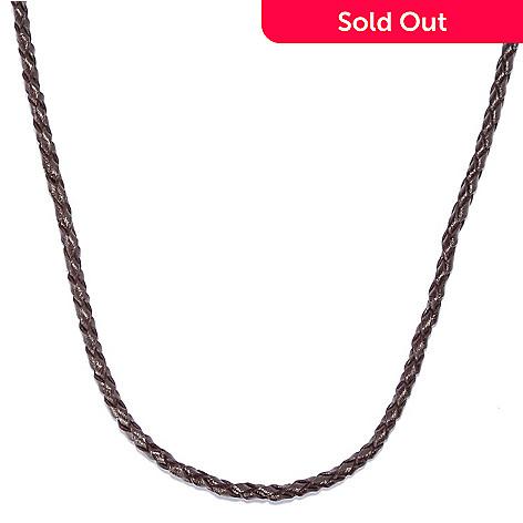 135-645 - Men's en Vogue 22'' Braided Leather Cord Necklace