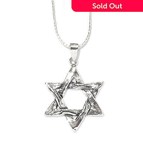 135-675 - Passage to Israel™ Sterling Silver 18'' Star of David Necklace, 7.5 grams