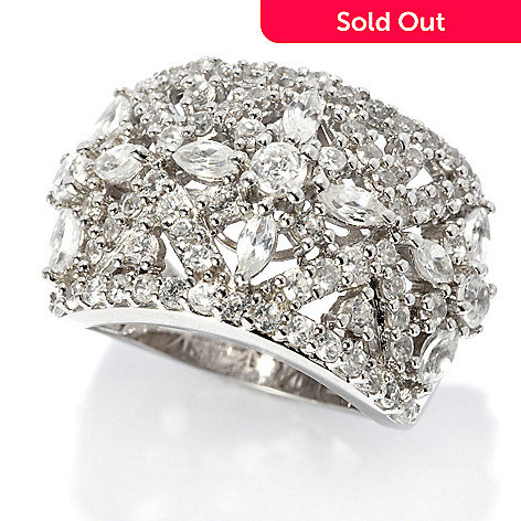 135-804 - NYC II® 2.79ctw White Zircon Flower Wide Band Ring