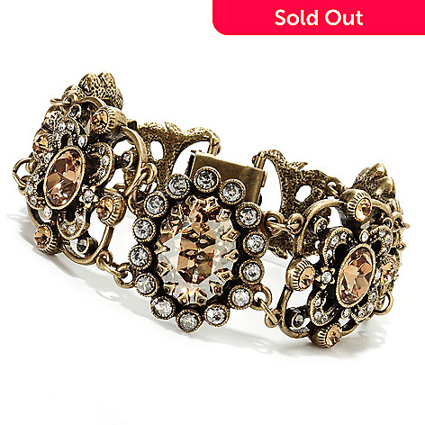 135-808 - Sweet Romance™ 7.25'' Oval & Round Crystal Art Deco Inspired Bracelet