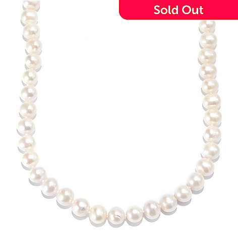135-872 - Sterling Silver 10.5-11.5mm White Freshwater Cultured Pearl Necklace