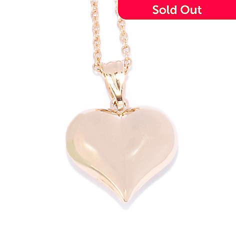 136-195 - Revalé™ 14K Bonded Polished Heart Pendant w/ 18'' Chain