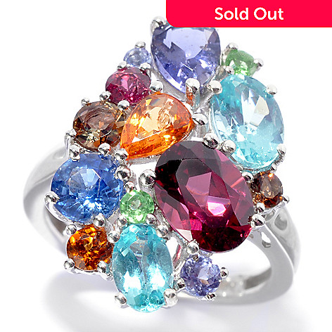 "136-212 - NYC II® 4.23ctw ""The Ites"" Scattered Multi Gemstone Ring"