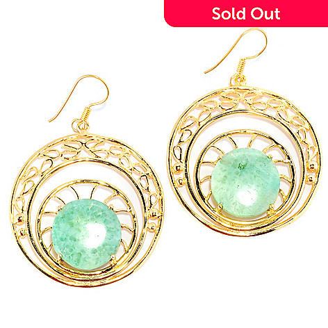 136-351 - Sattriya™ 2.25'' 17mm Drusy Agate Cut-out Circle Drop Earrings