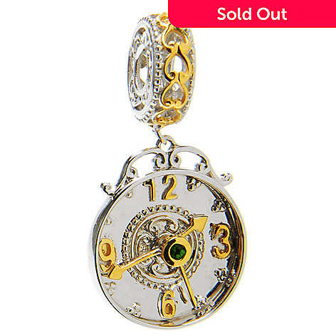 136-558 - Gems en Vogue Chrome Diopside Clock Drop Charm