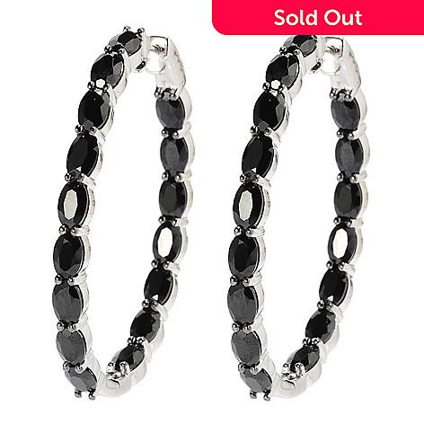 137-469 - Gem Treasures® Sterling Silver 1.75'' 18.50ctw Spinel Inside-out Hoop Earrings
