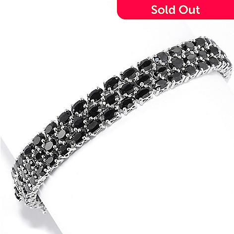 137-482 - NYC II Oval Black Sapphire Three-Row Bracelet