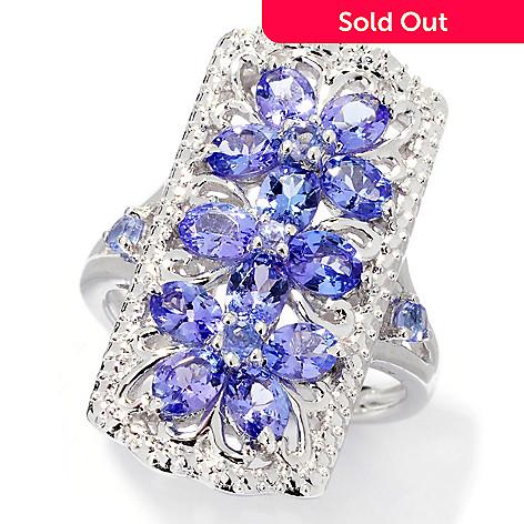 137-962 - NYC II® 1.82ctw Tanzanite Flower Trio Elongated Ring