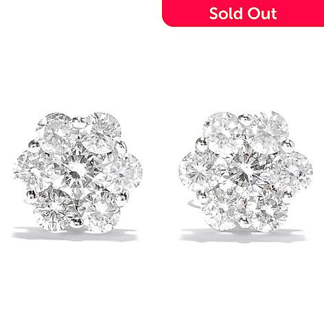 137-966 - Beverly Hills Elegance® 14K White Gold 0.95ctw Diamond Stud Earrings