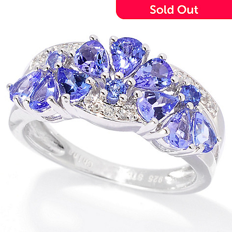 138-147 - NYC II™ 1.14ctw Tanzanite & White Zircon Alternating Flower Band Ring