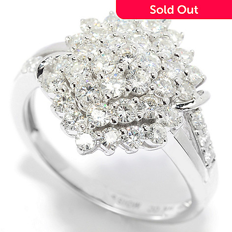139-180 - Forever Brilliant Moissanite 14K White Gold 1.02 DEW Marquise Cluster Ring