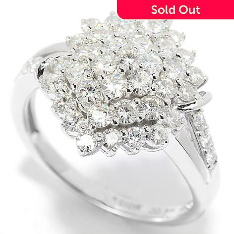 139-180 - Forever Brilliant® Moissanite 14K White Gold 1.02 DEW Marquise Cluster Ring