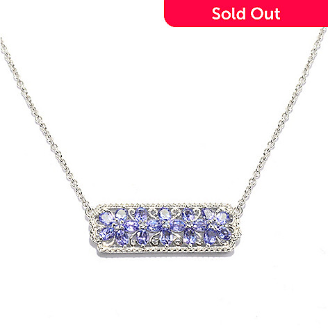 139-574 - NYC II™ 2.64ctw Tanzanite Flower Polished Necklace