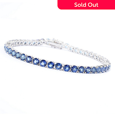 139-646 - Gem Treasures® Sterling Silver Exotic Topaz Line Bracelet
