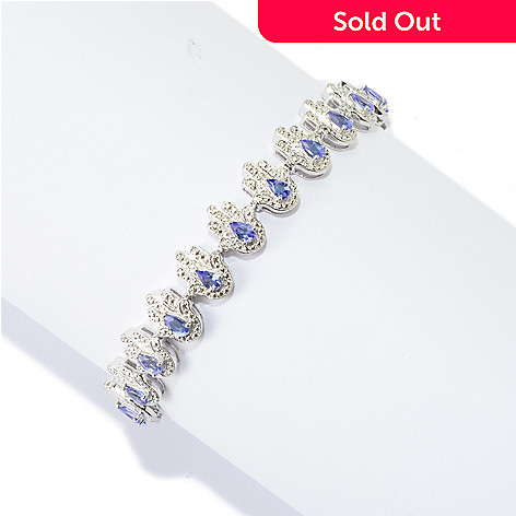 139-843 - NYC II™ Pear Shaped Tanzanite Hamsa Link Bracelet