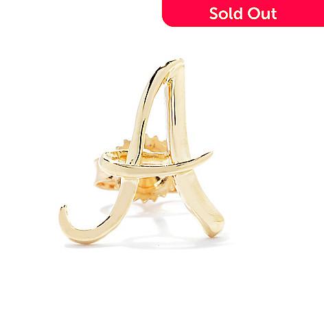 139-961 - 14K Gold Single Initial Stud Earring