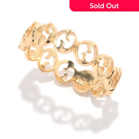 "Gucci ""1973"" 18K Gold Eternity Band Ring"