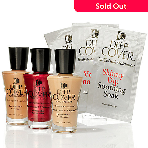 300-720 - Deep Cover Three-Piece Nail Lacquer & Primer Kit w/ Try Me Packets