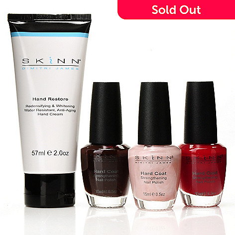 301-001 - Skinn Cosmetics Pretty Hands Nail Polish & Hand Cream Four-Piece Set