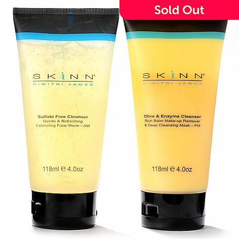 302-579 - Skinn Cosmetics AM & PM Cleansing System Duo 4 oz Each