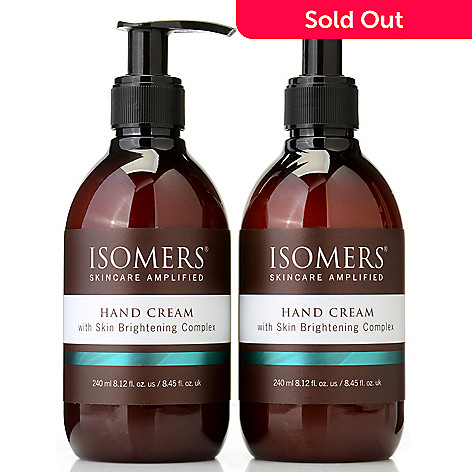 303-898 - ISOMERS® Hand Cream w/ Skin Brightening Complex Duo 8.12 oz Each