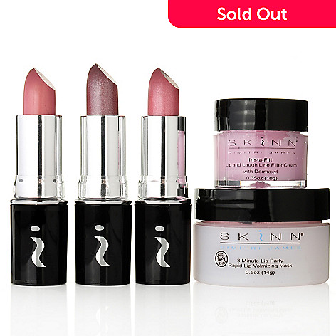 304-287 - Skinn Cosmetics Five-Piece Puff & Pout Lip Beautifying Set