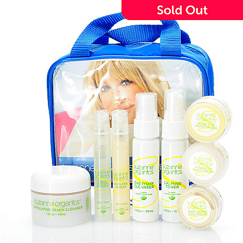 304-420 - Suzanne Somers Organics Eight-Piece Discovery Skincare Collection w/ Travel Bag